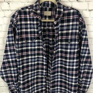 JACHS Button Down Men's Flannel Shirt SZ XLT